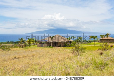 Luxury villa on Maui island, Hawaii, with ocean view.