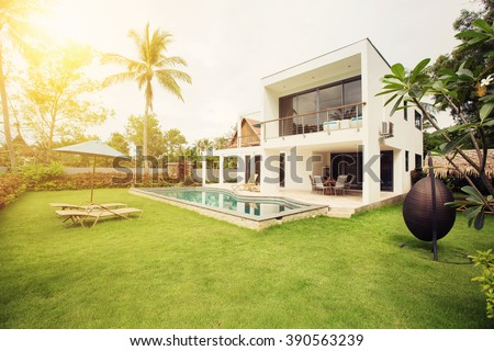 Luxury Villa Resort Interior  - stock photo
