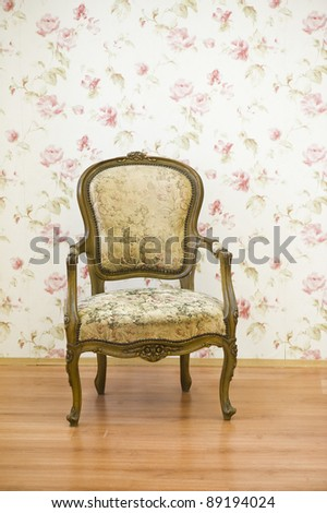Luxury vintage arms chair - stock photo