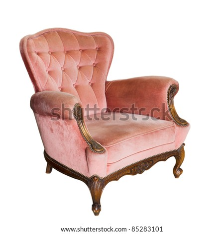 Luxury vintage arms chair isolated on White Background