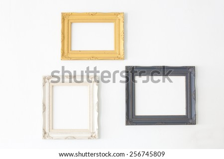Luxury Vintage Frame isolated on white background - stock photo