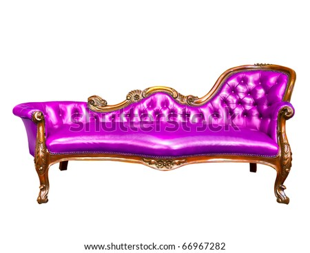 luxury violate armchair isolated on white background - stock photo