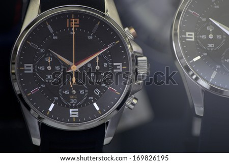 Luxury watch, chronograph closeup  - stock photo