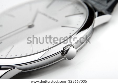 Luxury watch,  closeup  - stock photo