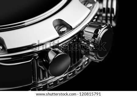 luxury watch part - stock photo