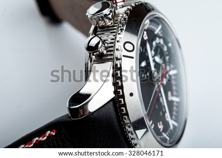 luxury watch part. Swiss made. Wrist watch  - stock photo
