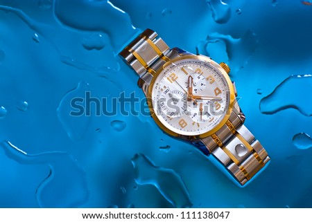 Luxury water resistant swiss made watch with chronograph