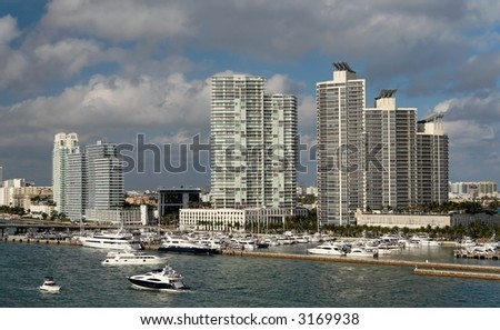 Luxury waterfront homes and marina