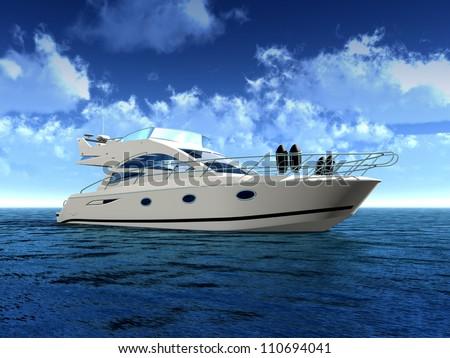 Luxury Yacht - stock photo