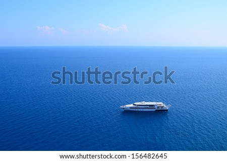 Luxury Yacht, Boat in the sea - stock photo