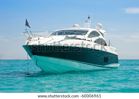 Luxury yacht. Sardinia, Italy. - stock photo