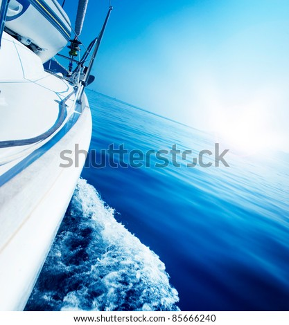 Luxury Yacht. Travel - stock photo