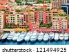 Luxury yachts in harbour of Monaco, Cote d'Azur - stock photo