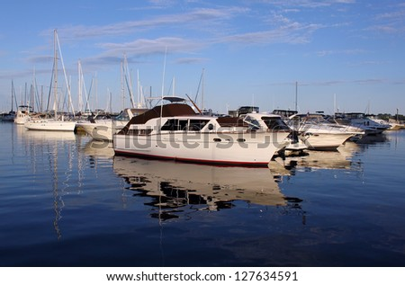 Luxury yachts in marina. - stock photo
