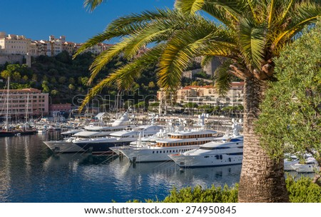 Luxury yachts in Monaco. - stock photo