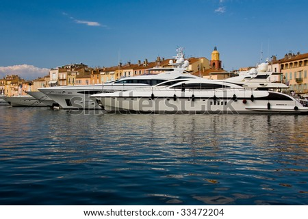 Luxury Yachts in Saint Tropez - stock photo