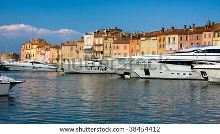 Luxury Yachts in Saint-Tropez - stock photo