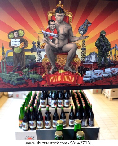May 1, 2012 Russia_Medvedev, Putin drink beer in central ... |Putin Beer