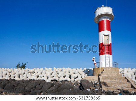 Ly Son Island lighthouse,Quang Ngai,Viet Nam 7/2014