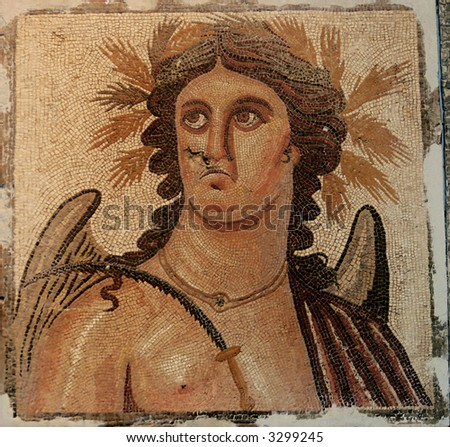 Lybia, ancient roman portrait - mosaic -