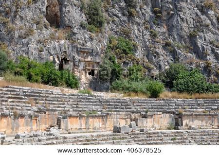 Tomb Ancient Cemetery Limyra Turkey Stock Photo 272772791