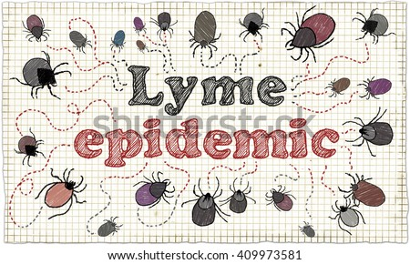Lyme Epidemic on Old Paper - stock photo