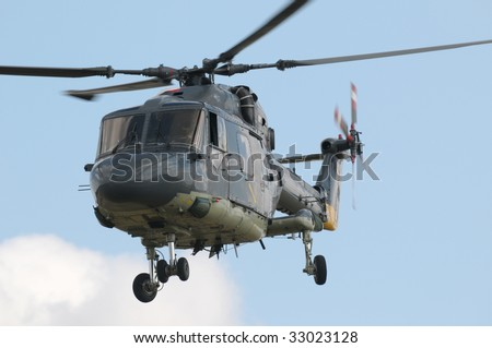 Lynx Military helicopter - stock photo