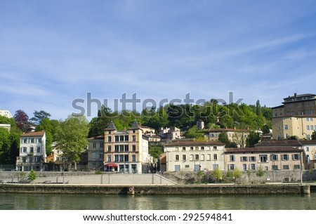 lyon architecture - stock photo