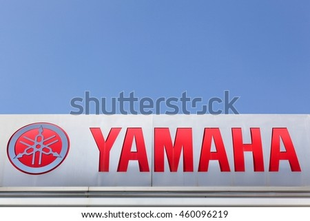 Lyon, France - July 3, 2016: Yamaha is a Japanese multinational corporation based in Japan with a very wide range of products and services like musical instruments, electronics, motorcycles