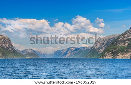Lysefjord in Norway - stock photo