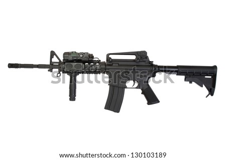M4A1 isolated on a white background
