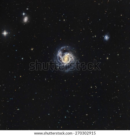 M61, a Spiral Galaxy in Virgo - stock photo