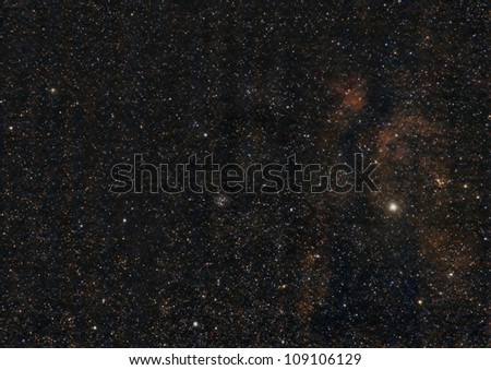 M29, an Open Star Cluster - stock photo