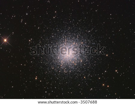M13 Globular cluster in Hercules - stock photo