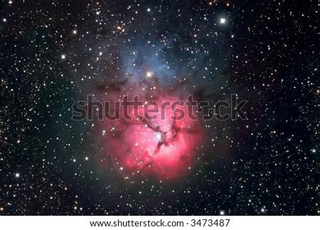 M20 nebula in Sagittarius - stock photo