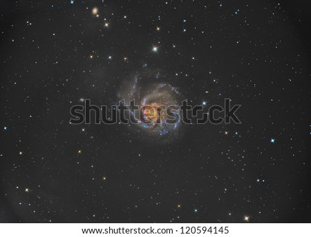 M101 Pinwheel Galaxy - stock photo