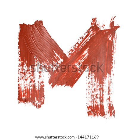 M - Red letters over white background
