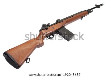 M14 rifle isolated - stock photo