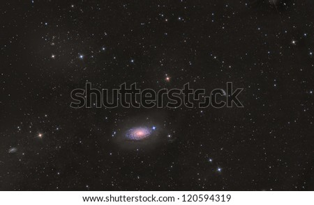 M63 Sunflower Galaxy - stock photo