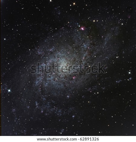 M33, The Triangulum Galaxy - stock photo