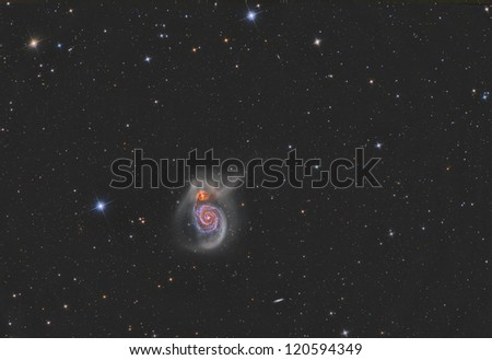 M51 Whirlpool Galaxy - stock photo