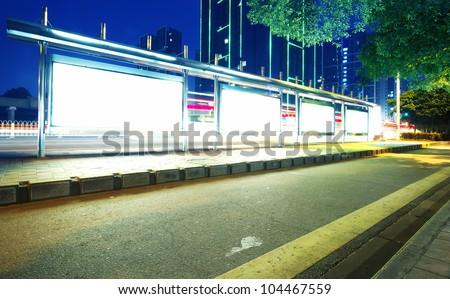 Ma roadside billboards, a very good material(Night) - stock photo