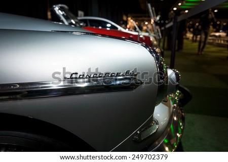 MAASTRICHT, NETHERLANDS - JANUARY 08, 2015: Fragment of a Citroen DS19 Chapron Concorde 64. International Exhibition InterClassics & Topmobiel 2015