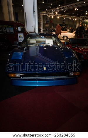 MAASTRICHT, NETHERLANDS - JANUARY 08, 2015: Sports car Ferrari 308 GTBi. International Exhibition InterClassics & Topmobiel 2015