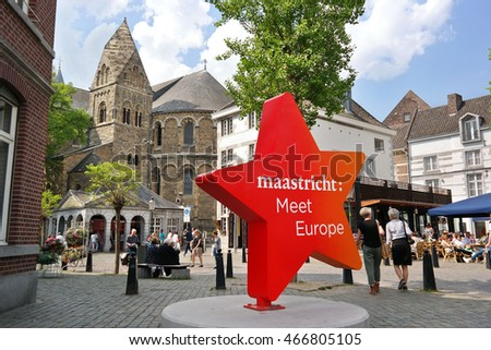 MAASTRICHT, THE NETHERLANDS - MAY 13: Maastricht: Meet Europe star sign. Maastricht is the oldest city in the Netherlands and the capital city of the province of Limburg. Photo taken on May 13, 2016.