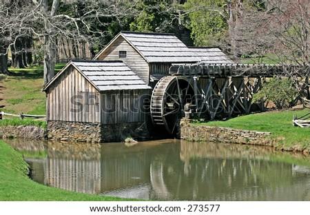 Mabrey`s Mill April 10, 2005 - stock photo