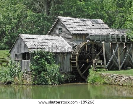 Mabry Mill before restoration - stock photo