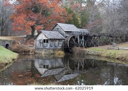 Mabry`s Mill on the Blueridge Parkway. - stock photo