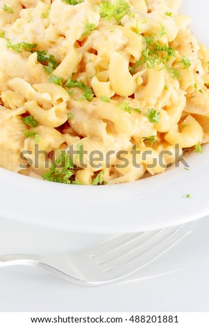 Mac and cheese, use whatever pasta is left in the pantry to create this delicious, creamy and kid friendly main course or side dish