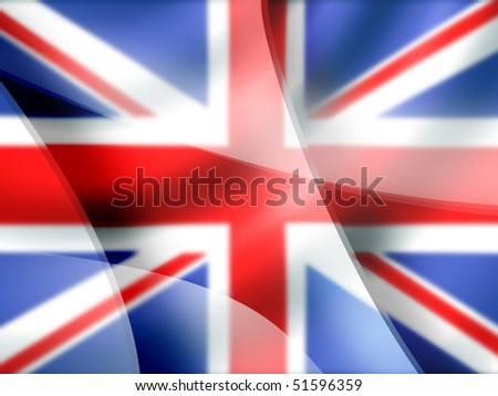 Mac-style abstract background in British colors - stock photo